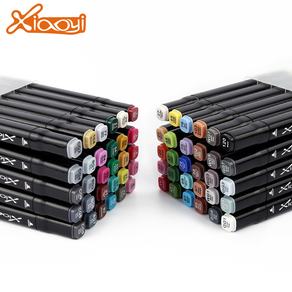 Custom logo permanent 60 colors architecture design marker pen with cheap price Featured Image