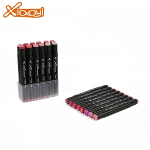 Colorful red series art marker pen