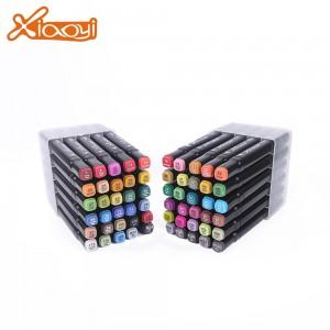 DIY students 60 colors drawing pen marker pen set with plastic box