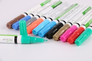 Paint marker pen tire paint pen 12 colors acrylic paint markers pen for car