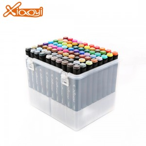 Logo Printed DIY Multicolor Art Marker Pen for Professional Interior Design