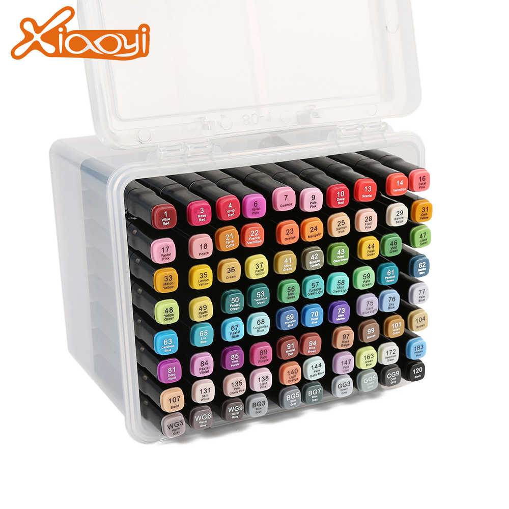 80 Colors Marker Pen Double Head Marker Pen for Animation Design Featured Image