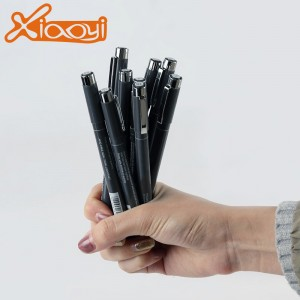 2019 new design classic durable drawing ink black needle pen
